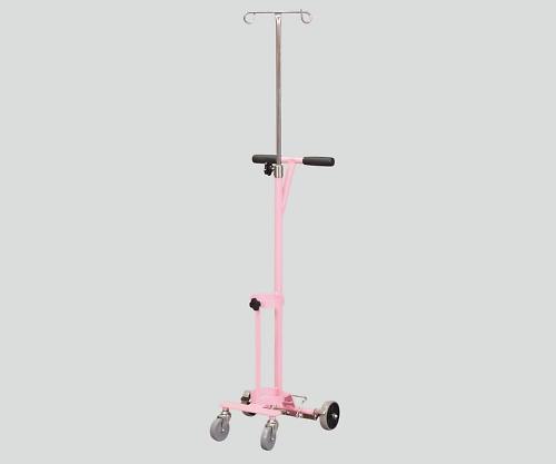 ガートル架付ボンベカート(ストッパー付き) ピンク 持ち手 伸縮式 SBCSD-501GPK 1個【条件付返品可】