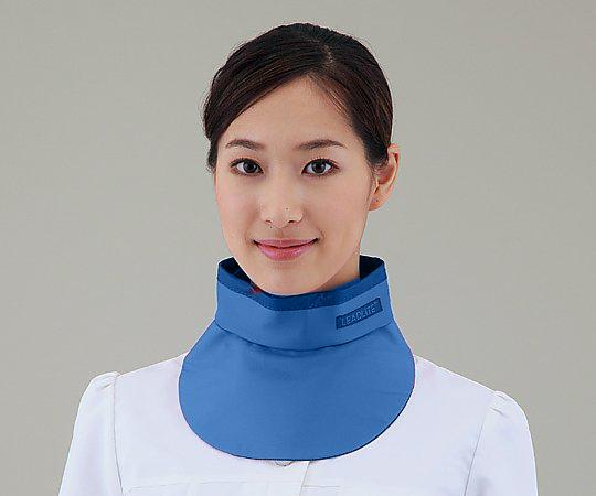 X線防護衣カラー KNECK-LE035 ブルー 1枚【条件付返品可】