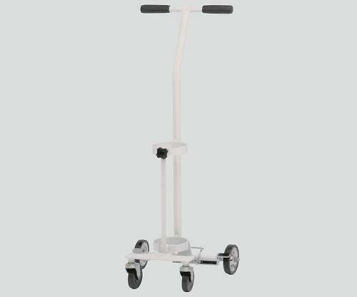 カラーボンベカート(ストッパー付) ホワイト 伸縮式 SBCSD-501SWH 1個【返品不可】