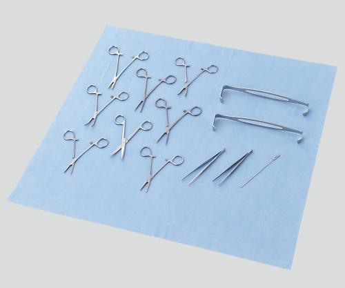 処置キット黄バッグ 切開縫合セット(DMAT用ディスポ鉗子セット) 1セット【条件付返品可】