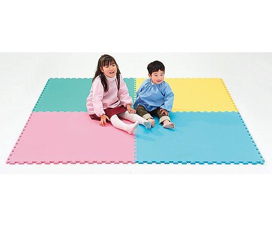 エッグクッションマット 4色セット(ピンク・ブルー・イエロー・グリーンx各1枚) 1組【条件付返品可】