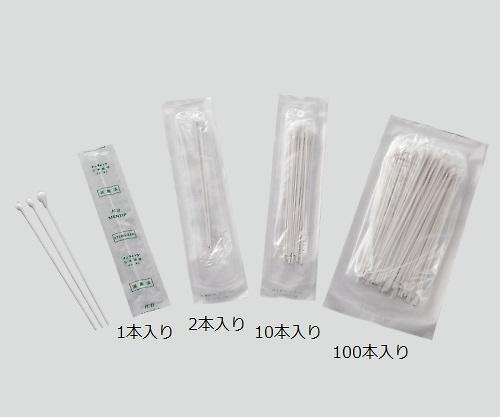 メンティップ 病院用綿棒(紙軸) 100P1505-NB 1箱(100本x25袋入り)【条件付返品可】