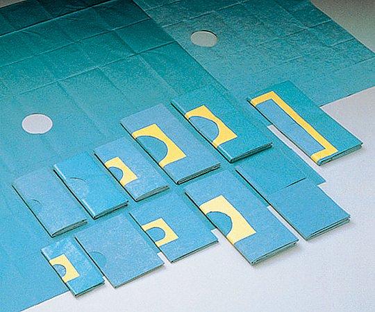 メッキンドレープ(吸水/防水・丸穴開き・テープ付き) 600x600mm φ60mm SP-822ATH 1箱(50枚x2箱入り) ホギメディカル【返品不可】
