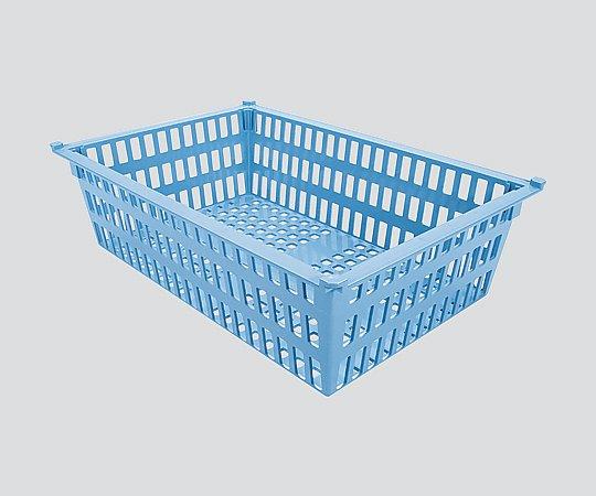 バスケット 64-17タイプ(深さ17cm)帯電防止 ブルー PB64-17 BU 1個【条件付返品可】
