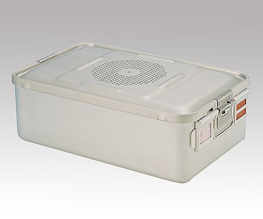 滅菌コンテナー M PTFEフィルタータイプ 465x280x150mm PTFE-15-M 1台【キャンセル・返品不可】