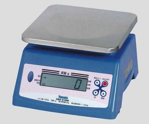 防水形デジタル上皿はかり[検定付] 1200g UDS-210W 1個 【キャンセル・返品不可】