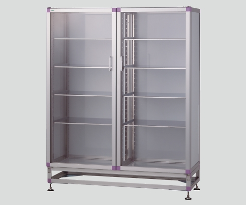 器械戸棚(アルミフレーム) 1400x522x1740 KT-W-SS 1個 【大型商品】【後払不可】【同梱不可】【返品不可】