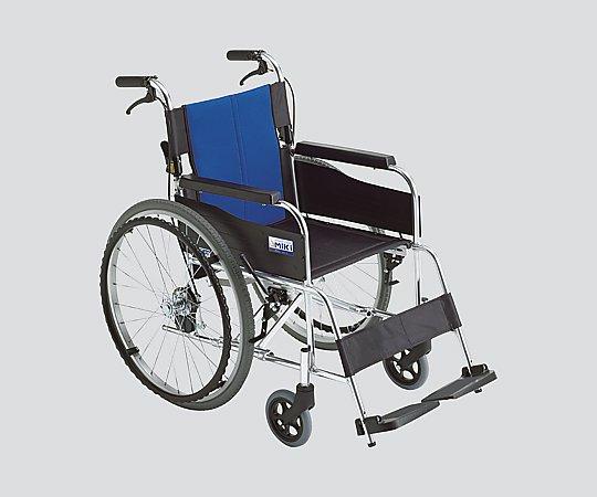 車いす (自走式/アルミ製/ノーパンクタイヤ/ナイロンシート) BAL-1-A-2 1台 【大型商品】【同梱不可】【代引不可】【キャンセル・返品不可】