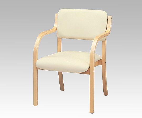 木製スタッキングチェア (アーム付き/ホワイト) 6923-115 1箱(2脚入り)【条件付返品可】