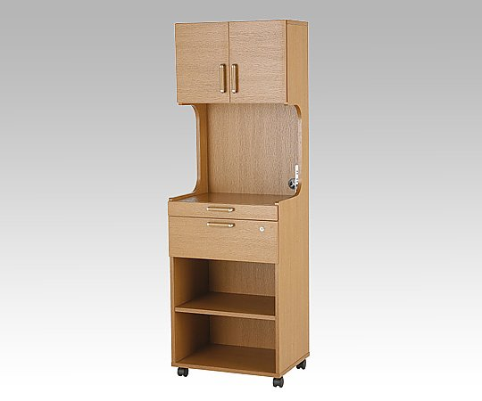床頭台 (ブラウン/580x550x1750mm) GSB-SH-55-B 1台 【大型商品】【同梱不可】【代引不可】【キャンセル・返品不可】