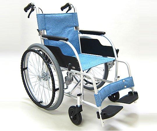 車椅子 (自走式/アルミ製/背折れタイプ) ECO-201B 1台 【大型商品】【同梱不可】【代引不可】【返品不可】