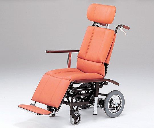 フルリクライニング車椅子 (介助式/スチール製/座幅460mm/32.2kg/チルト) NHR-7 1台 【大型商品】【同梱不可】【代引不可】【返品不可】