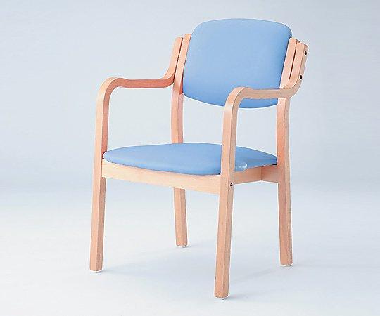 立ち上がりに便利な椅子 (アイリス) (浅型/520x550x800mm/ブルー) SIRS-150-V ブルー 1脚【条件付返品可】