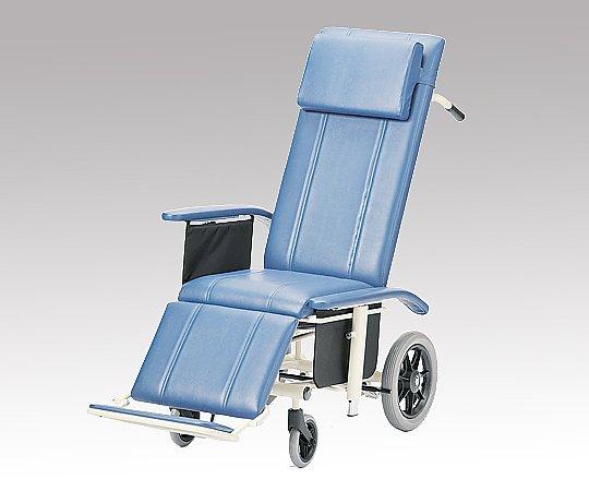 フルリクライニング車椅子 (介助式/スチール製/座幅430mm/ノーパンクタイヤ) NHR-16 1台 【大型商品】【同梱不可】【代引不可】【キャンセル・返品不可】