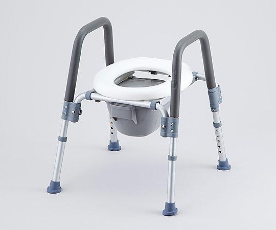 コンフォートトイレ椅子(折りたたみ式) 背無し HT2202 1台【条件付返品可】