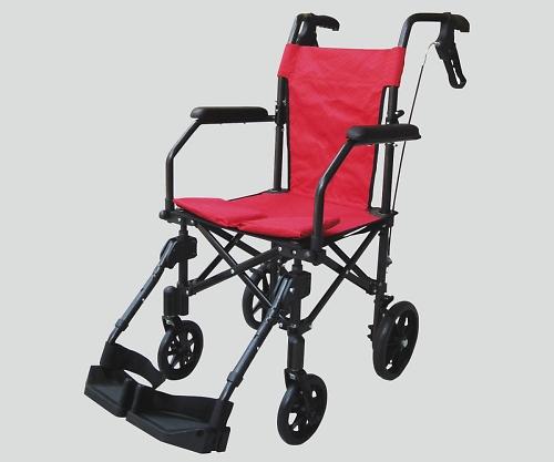 ハンディーライトプラス(折畳み式介助車椅子) レッド 1個 【大型商品】【同梱不可】【代引不可】【キャンセル・返品不可】