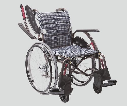 車椅子(アルミ製・ウェイビットプラス) 濃紺C 400mm NWAP22-40S 1個 【大型商品】【同梱不可】【代引不可】【キャンセル・返品不可】