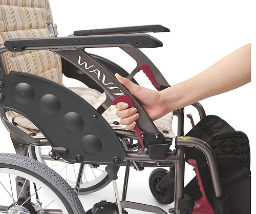 車椅子(アルミ製・ウェイビットプラス) カフェモカ 420mm NWAP22-42S 1個 【大型商品】【同梱不可】【代引不可】【キャンセル・返品不可】