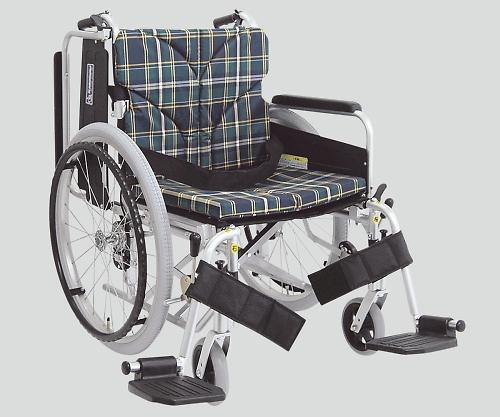 車椅子(アルミ製) スイングアウト・イン 緑チェック NKA822-40B-M A9 1個 【大型商品】【同梱不可】【代引不可】【キャンセル・返品不可】
