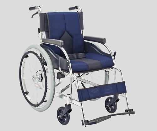 車椅子(アルミ製・背折れタイプ) ネイビー KC-1DB 1個 【大型商品】【同梱不可】【代引不可】【キャンセル・返品不可】