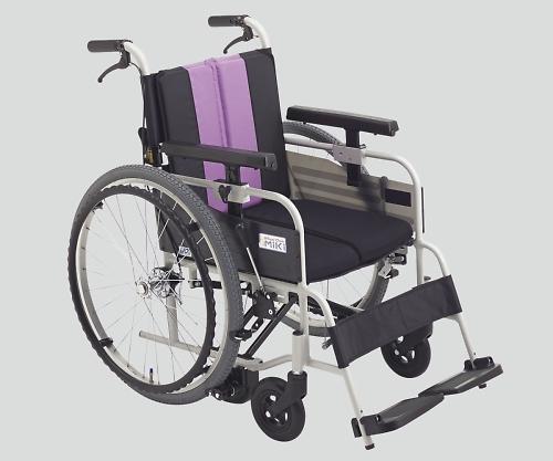 ノンバックブレーキ車椅子(アルミ製) MBY-47B パープル 標準 1個 【大型商品】【同梱不可】【代引不可】【キャンセル・返品不可】
