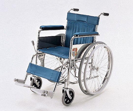 車椅子 (自走式/スチール製/ソリッドタイヤ/ビニールシート) KR801N 1台 【大型商品】【同梱不可】【代引不可】【キャンセル・返品不可】