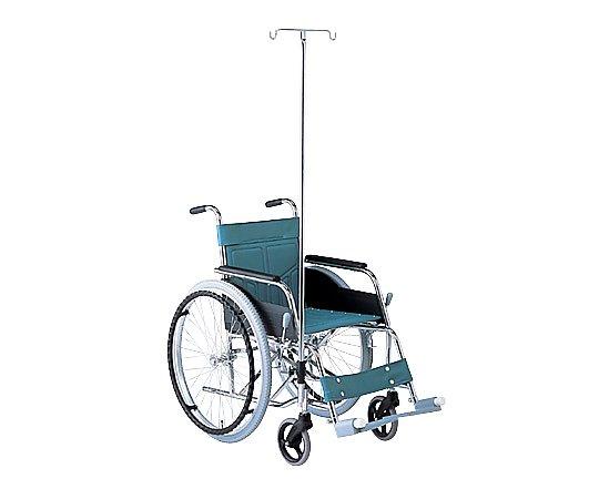 車椅子 (自走式/スチール製/ガードル棒付き) ATY-1S 1台 【大型商品】【同梱不可】【代引不可】【返品不可】