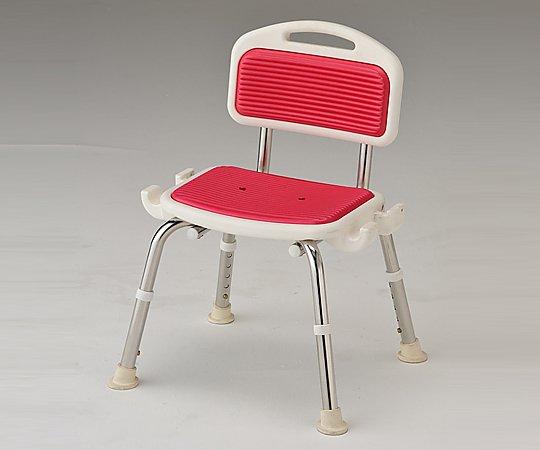 業務用シャワー椅子 (肘無し/レッド) 1脚【条件付返品可】