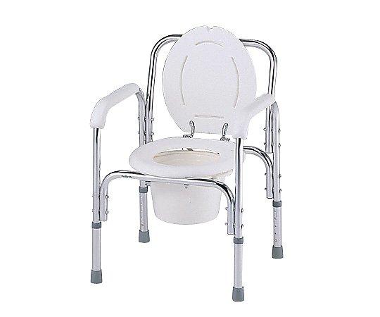 デラックスアルミ製便器椅子 530x455x720~820mm 8500 1台【条件付返品可】