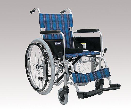 車椅子 (自走式/アルミ製/ノーパンクタイヤ) KA102-42 1台 【大型商品】【同梱不可】【代引不可】【キャンセル・返品不可】