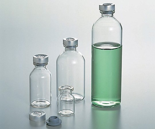 バイアル瓶 100mL 白 No.8 1箱(50本入り)【条件付返品可】