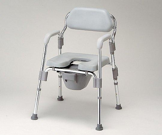 トイレ椅子(折りたたみ式) 520x535x700~800mm HT2097 1台【条件付返品可】