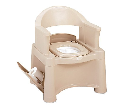 ポータブルトイレ (ベージュ/595x530x735(755/775)mm) HS-BE 1台 【大型商品】【同梱不可】【代引不可】【キャンセル・返品不可】