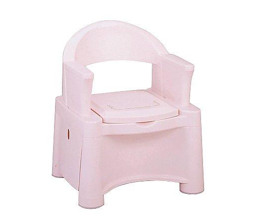 ポータブルトイレ (ピンク/595x530x735(755/775)mm) HS-P 1台 【大型商品】【同梱不可】【代引不可】【キャンセル・返品不可】