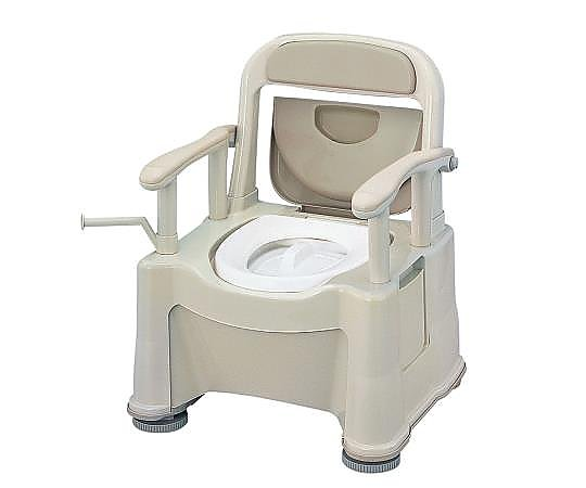 ポータブルトイレ (座楽) (背もたれ型SP) VALSPTSPBE 1台 【大型商品】【同梱不可】【代引不可】【返品不可】
