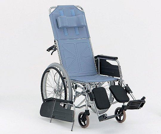 リクライニング車椅子 (自走式/スチール製/座幅400mm/エアータイヤ) CM-50 #36 1台 【大型商品】【同梱不可】【代引不可】【キャンセル・返品不可】
