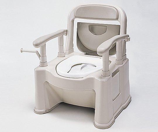 ポータブルトイレ (座楽) (623x597x760~850mm) VALSPTSPMB 1台 【大型商品】【同梱不可】【代引不可】【キャンセル・返品不可】