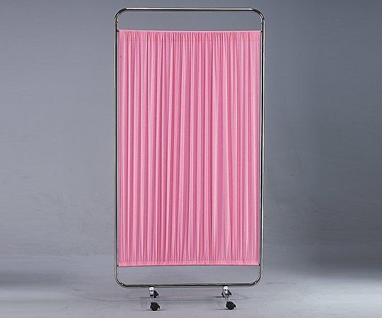 カラー衝立 一連 900x1780 キャスター幅:415 ピンク 1枚【条件付返品可】