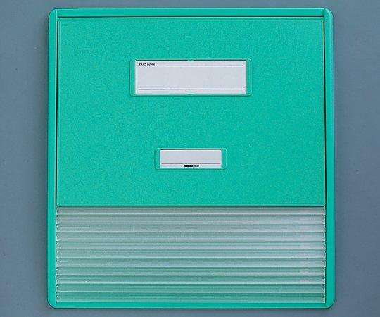 カードインデックス A3/A4(縦2面)10名用 グリーン HC113C 1冊【条件付返品可】