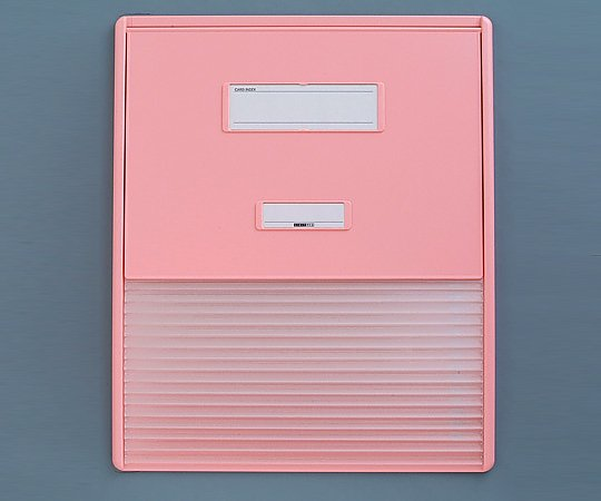 カードインデックス A3/A4(縦2面)15名用 ピンク HC114C 1冊【返品不可】