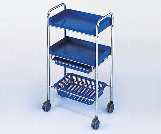 カラーセット台(C-161) ブルー 485x300x895mm 11613 1台【条件付返品可】