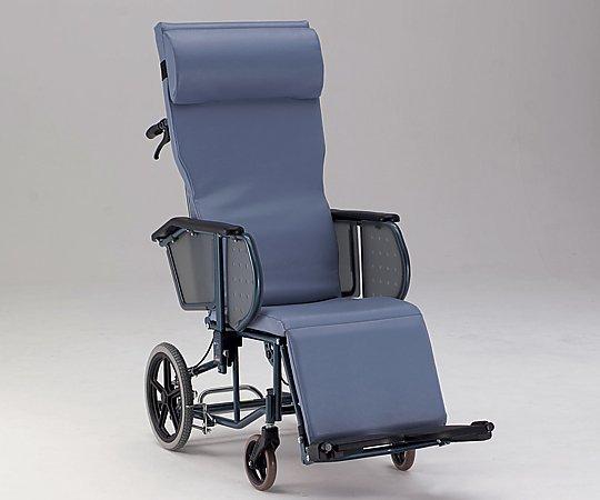 フルリクライニング車椅子 (介助式/スチール製/座幅400mm/ノーパンクタイヤ) FR-11R 1台 【大型商品】【同梱不可】【代引不可】【返品不可】