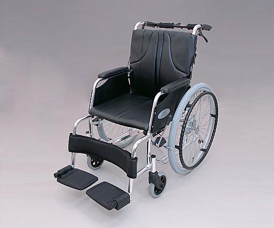 車椅子 (自走式/アルミ製/黒) 0101-LA2006 1台 【大型商品】【同梱不可】【代引不可】【キャンセル・返品不可】
