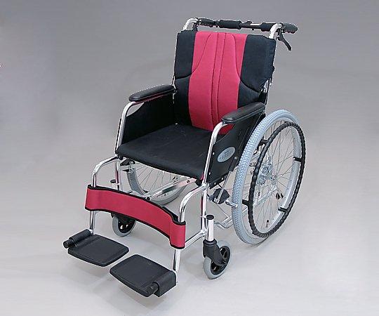 車椅子 (自走式/アルミ製/ワインレッド) 0101-LA2008 1台 【大型商品】【同梱不可】【代引不可】【キャンセル・返品不可】