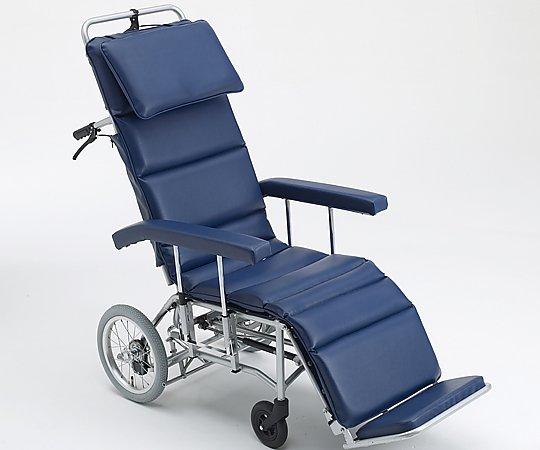 フルリクライニング車椅子 (介助式/アルミ製/座幅460mm/エアータイヤ) MFF-50 1台 【大型商品】【同梱不可】【代引不可】【キャンセル・返品不可】