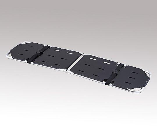 折りたたみ担架 YDC-1A4H黒 500x1850x50mm 7.0kg 1台【キャンセル・返品不可】