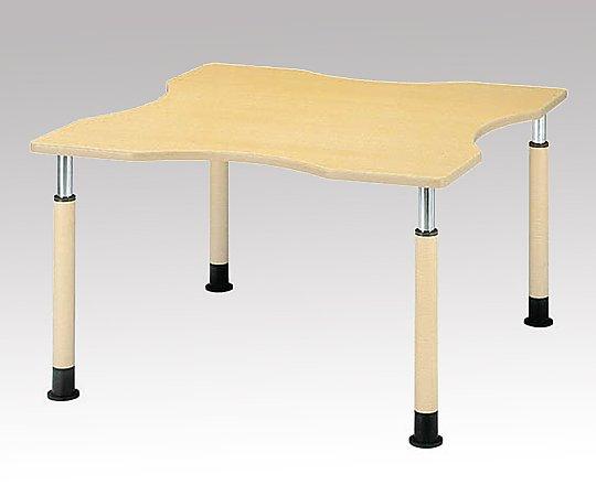 昇降式テーブル (変形型/1200x1200x595~795mm) FP-1212Q(変形型) 1台 【大型商品】【同梱不可】【代引不可】【キャンセル・返品不可】