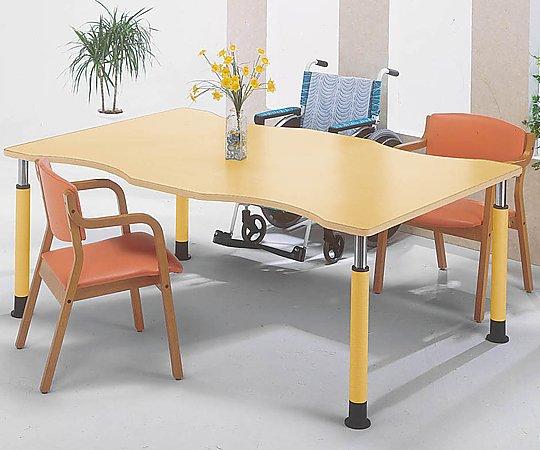 昇降式テーブル (変形型/1800x1200x595~795mm) FP-1812Q(変形型) 1台 【大型商品】【同梱不可】【代引不可】【キャンセル・返品不可】