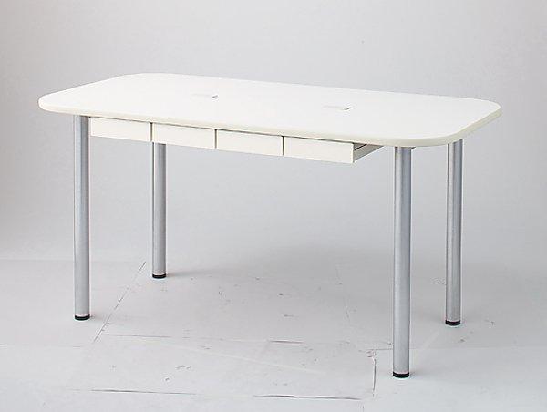ナーステーブル(フラット天板) 1200x900x750mm 1290L-W 1台 【大型商品】【同梱不可】【代引不可】【キャンセル・返品不可】