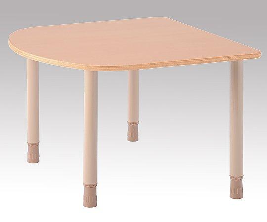高さ調節ができるテーブル (1200x1100x660~730mm) TBH-1211R-QBE 1台 【大型商品】【同梱不可】【代引不可】【キャンセル・返品不可】